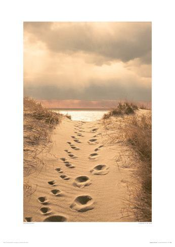 Footprints In The Sand Giclee Print