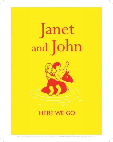 Janet And John Here We Go Giclee Print