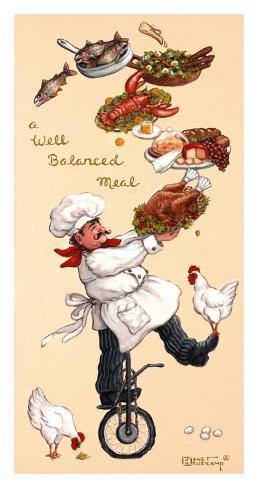 A Well Balanced Meal Art Print