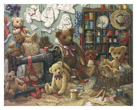 Teddy Bear Workshoppe Art Print