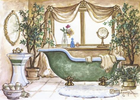 Vasca Da Bagno Retro Prezzi : Vasca da bagno vintage lll stampa su tela di janet kruskamp su