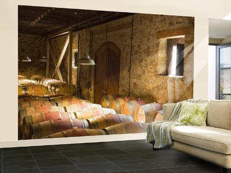Window Light Streams Into Barrel Room at Hess Collection Winery, Napa Valley, California, USA Wall Mural – Large