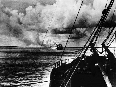 Japanese Air Raid on Port Darwin, 1942 Photographic Print