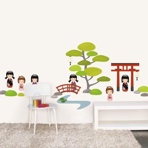 Japanese garden Wall Decal