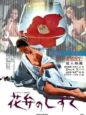 Japanese Movie Poster - A Drop of Petal Stretched Canvas Print