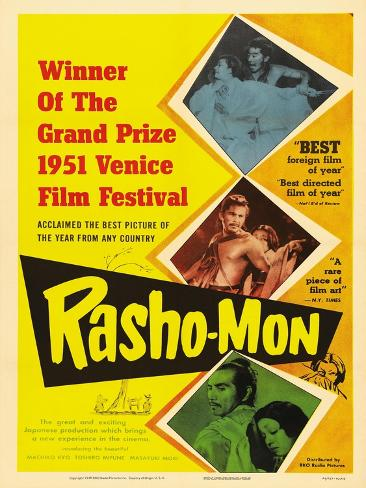 Japanese Movie Poster - Rashomon in English ジクレープリント