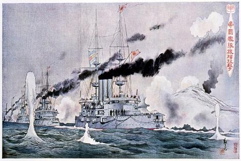 Japanese Naval Squadron Steaming to Bombard Port Arthur, Russo-Japanese War 1904-1905 Giclee Print