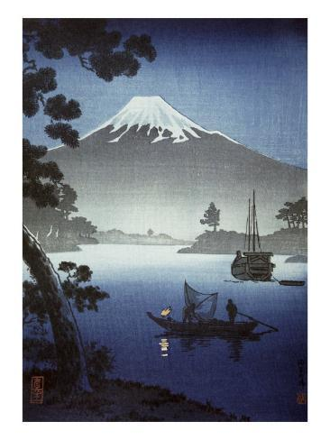 Japanese Print (Mt Fuji from Tagonoura) Giclee Print