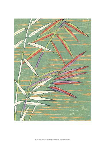Japanese Textile Woodblock, Bamboo Steams Stampa artistica