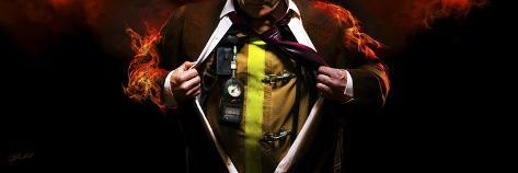 Answering the Call (Fireman) Giclee Print