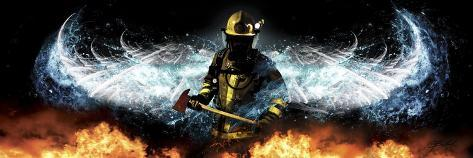 Fireman 11 Giclee Print