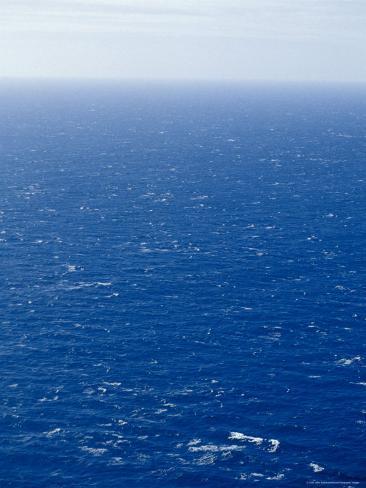 Wind Creates White-Capped Waves Sprinkled Across a Vast Blue Ocean, Bass Strait, Australia Photographic Print