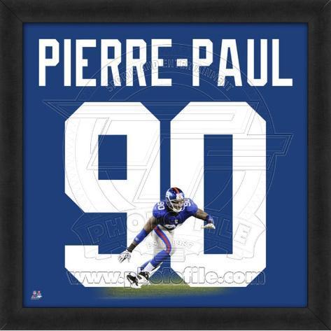 Jason Pierre-Paul, Giants representation of the player's jersey Framed Memorabilia
