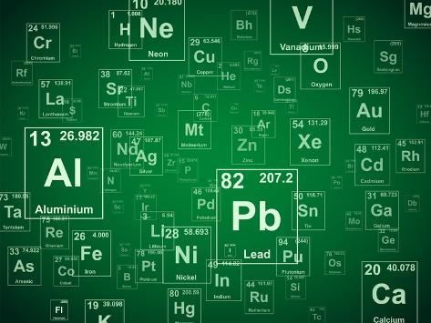 Periodic table of the elements green background illustration prints periodic table of the elements green background illustration urtaz Choice Image