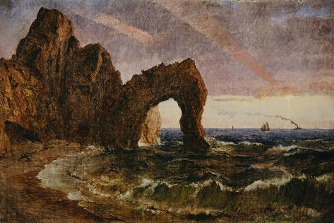 Sunset at Etretat, 1894 Lámina giclée