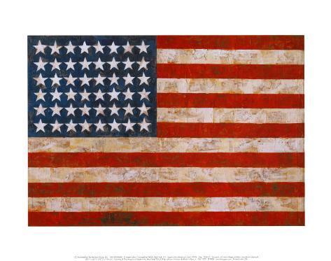 Flag, 1954-55 Art Print