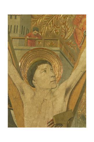 The Martyrdom of St. Vincent, Detail of Vincent on the Cross, 1458-60 Lámina giclée