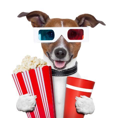3D Glasses Movie Popcorn Dog Valokuvavedos