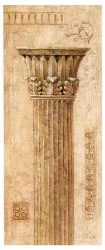 Sepia Column Study I Art Print