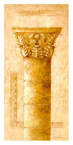 Sepia Column Study II Art Print
