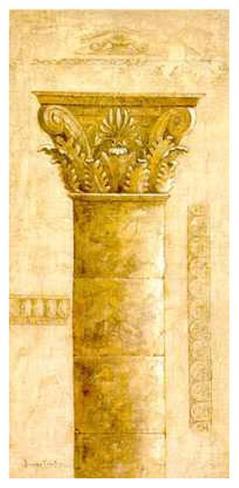 Sepia Column Study III Art Print