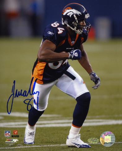 Javon Walker Denver Broncos Autographed Photo (Hand Signed Collectable) Photo
