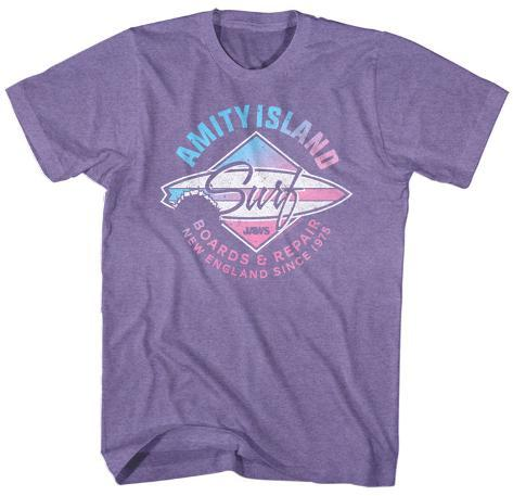 Jaws amity island surf board repair t shirt su for Attack of the 50 foot woman t shirt