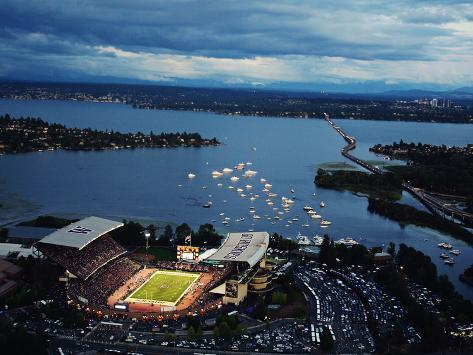 University of Washington - Aerial View of Husky Stadium Photo