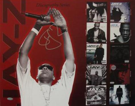Jay Z Discography Autographed Music Photo (Hand Signed Collectable) Photo