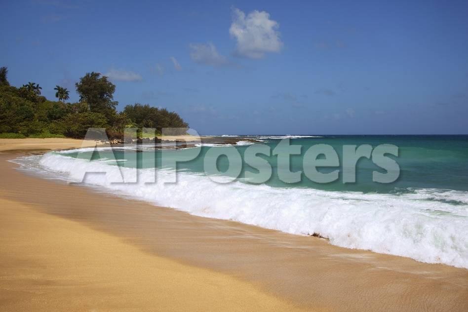 Scenic Of Secret Beach Kauai Hawaii Usa Photographic Print Jaynes Gallery Allposters Com