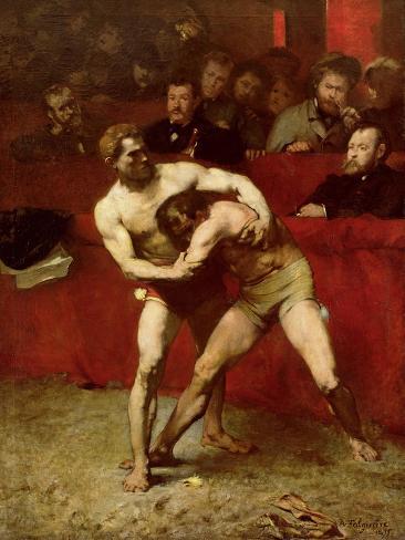 Wrestlers, 1875 Impressão giclée