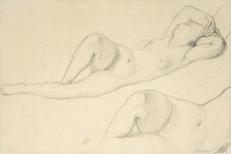 A Reclining Female Nude Lámina giclée