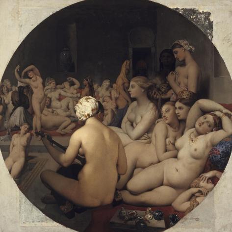 Bagno turco Stampa giclée di Jean-Auguste-Dominique Ingres su ...