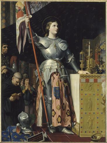 Jeanne d'Arc au sacre du roi Charles VII dans la cathédrale de Reims Giclée-vedos