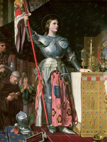 Joan of Arc (1412-31) at the Coronation of King Charles Vii (1403-61) 17th July 1429, 1854 Giclee Print