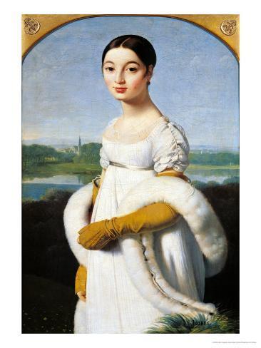 Portrait of Mademoiselle Caroline Riviere (1793-1803) 1805 Giclee Print