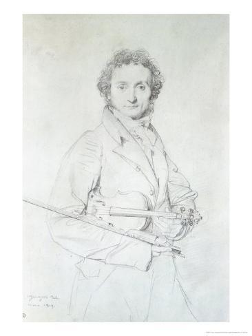 Portrait of Niccolo Paganini (1782-1840) 1819 Giclee Print