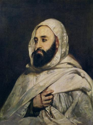 Portrait of Abd El-Kader (1808-83) Giclee Print