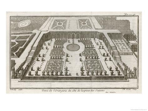 Bird's-Eye View of the Finest Building at Versailles Giclee Print