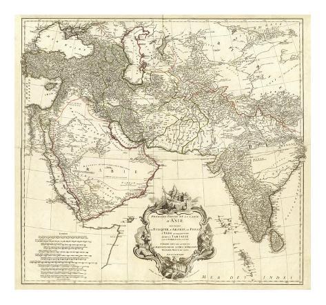 Asia I, c.1751 Art Print