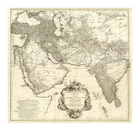 Asia I, c.1751 Framed Giclee Print