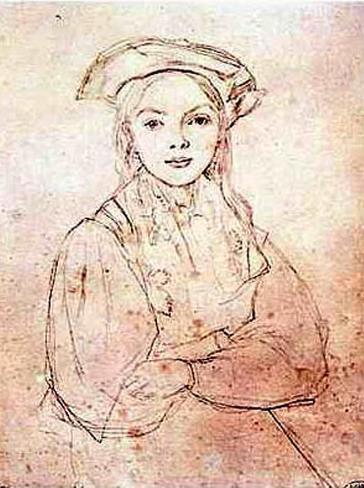 Girl in Beret Art Print