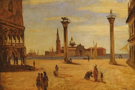 Piazzetta Di San Marco, Venice, 1828-34 Lámina giclée