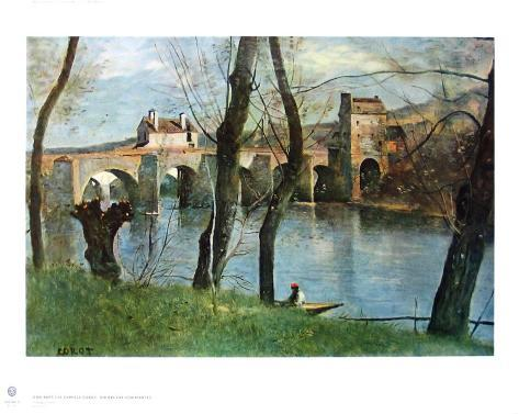 The Bridge of Mantes Collectable Print