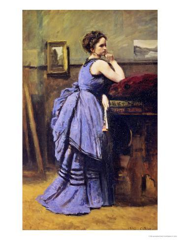 The Woman in Blue, 1874 Giclee Print