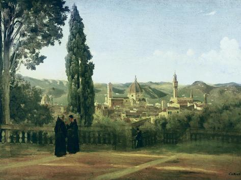 View of Florence from the Boboli Gardens Poster by Jean-Baptiste ...