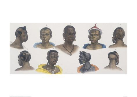 Black People of Different Nations Stampa giclée