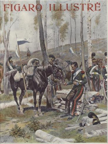 An Encampment of Soldiers Impressão giclée