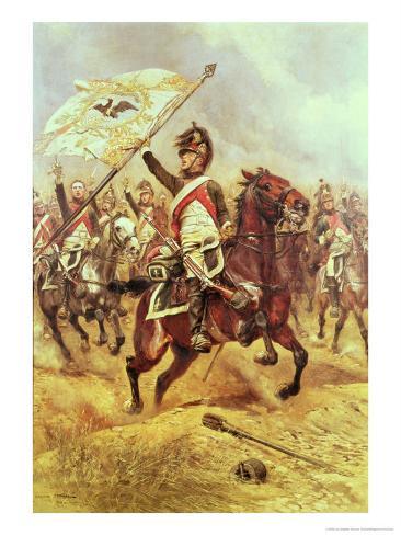 Le Trophee, 1806, 4th Dragoon Regiment, 1898 Lámina giclée