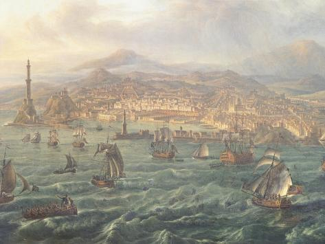 View of Genoa Giclee Print